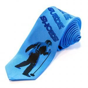 Tie - Blue Suede Shoes   Tie with TCB motive